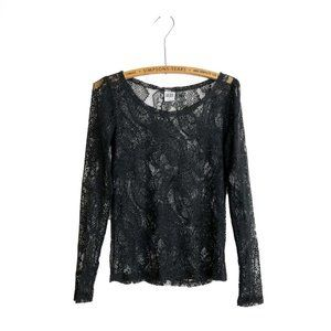Vero Moda Vampy Lace Long Sleeve Top Grunge 90s